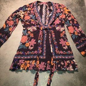 Free people floral shirt/dress